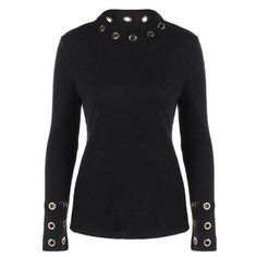 #BFCM #CyberMonday #Twinkledeals - #TwinkleDeals Ribbed Knitwear with Eyelet Embellished - AdoreWe.com