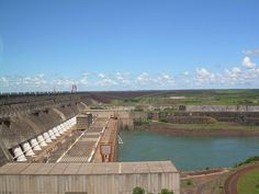The Itaipu Dam is largest working hydroelectric power plant in its generating capacity. It is located on the border of Brazil and Paraguay
