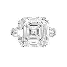 Betteridge Collection 15.43 Carat Asscher-Cut Diamond Engagement Ring