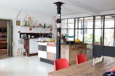 Warm Deco: In love! Kitchen Interior, Kitchen Decor, Industrial Style, Color Splash, Interior Inspiration, Sweet Home, Warm, Furniture, Ideas Para