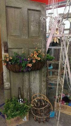 Old door repurposed, vintage garden