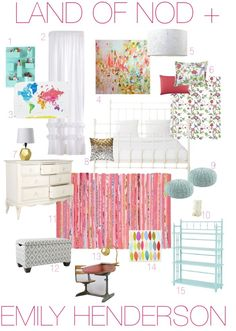 Emily Henderson — Stylist - BLOG - Land of Nod tween bedroom redo + giveaway