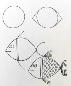 How to draw a fish.