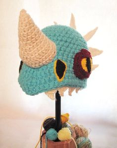 Deadly Nadder Dragon with Spikes Hat Fandom in Turquoise Blue with Rhino Horn Stormfly Dinosaur on Etsy, $40.48 CAD