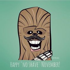 happy mishkas: It's his favorite month of the year. @Sketch_Dailies #chewbacca #Movember