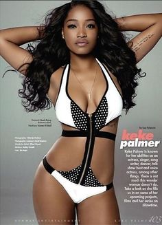 Keke Palmer-SINGER, ACTRESS, TV HOST FLAUNTS SUMMER BEACH BODY- The 20-year-old shared the smoking hot photo on her Instagram over the weekend. There's no word on when the issue will hit stands, but the brown skin beauty is definitely serving up a new kind of sexy!