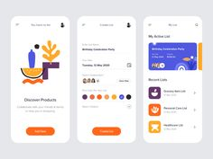 Mobile_UI by DStudio™ on Dribbble Mobile Ui Design, App Design, Grocery Items List, Case Study Design, Create List, Meditation Apps, Ui Design Inspiration, Interactive Design, Mobile App