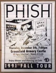 Phish Telluride Colorado August 1988 Art Poster Picture Print 24 X 36 Trey Mike