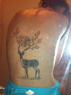 Deer! I love this piece of art, and I think it translated well as a tattoo