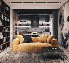 Modern Loft designed by Leonid Sizikov Design Loft, Loft Interior Design, Küchen Design, Interior Architecture, Showroom Design, Exterior Design, Apartment Interior, Apartment Design, Room Interior