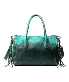 996f6ca2e9 Love this Aqua Green Sunny Hill Leather Satchel by OLD TREND on  zulily!