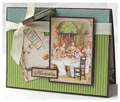 """Make this Place in Time """"Memories"""" Card with this great free project sheet! #graphic45 #tutorials #cards"""
