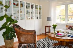 IKEA Bookcases, eclectic living room