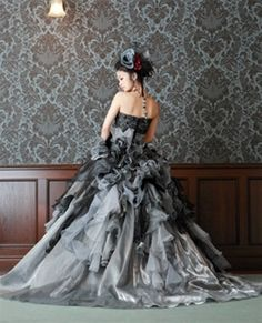 Wedding Dress Fantasy - Gray Wedding Dress - Available in Every Color, $769.00 (http://www.weddingdressfantasy.com/gray-wedding-dress-available-in-every-color/)