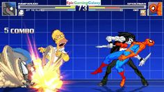 Spider-Man And Homer Simpson VS Rampardos The Pokemon & Jeff The Killer In A MUGEN Match / Battle This video showcases Gameplay of Jeff The Killer From Creepypasta And Rampardos The Rock Type Pokemon VS Homer Simpson From The Simpsons Series And Spider-Man The Superhero In A MUGEN Match / Battle / Fight