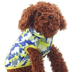 Mikey Store Pet Supplies Clothes Winter Clothing Puppy Costume Dog Cat Coat Jacket Yellow S * Want additional info? Click on the image.