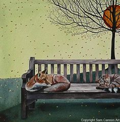 Painting Wooden Furniture, Rustic Furniture, Living Room Furniture, Outdoor Furniture, Furniture Storage, Buy Prints Online, September Colors, Sam Cannon, Fox Art