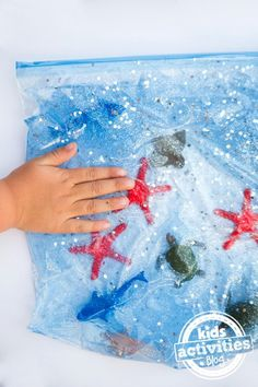 Ocean Sensory Bag - fun exploration for babies