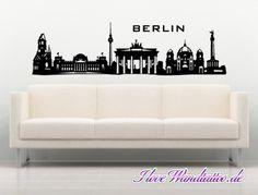 Skyline-Wandtattoo von Berlin  #skyline # wandtattoo #wandtattoo skyline