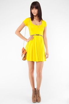I'd love a yellow dress for the summer