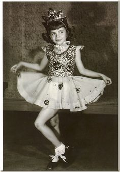 Penny Marshall in dance school during the 1940s