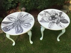 End tables are an indispensable part of every cozy and comfortable home. Check out these Hometalker ideas for DIY projects to make yours truly stand out! Round End Tables, White End Tables, Rustic End Tables, Small End Tables, Diy End Tables, Diy Table, Side Tables, Western Furniture, Painted Furniture