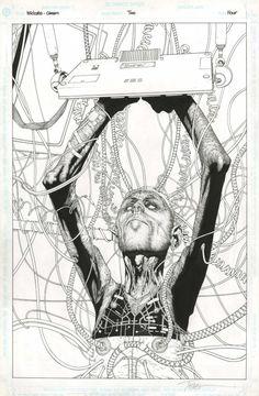 Original art by Travis Charest, Richard Friend in category Strips