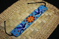 Seed Bead Jewelry, Seed Beads, Beaded Jewelry, Unique Jewelry, Loom Bracelet Patterns, Beading Patterns, Motifs Perler, Native Beadwork, Woven Bracelets