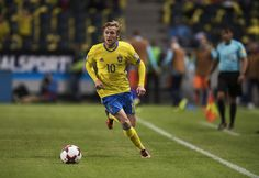 Emil Forsberg of Sweden during the FIFA World Cup Qualifier between Sweden and…