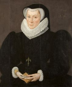 Lady Katherine Neville, Lady Constable, aged 60. By Robert Peake the elder, 1590. National Trust Inventory Number: 254672. Lytes Cary Manor, Somerset.