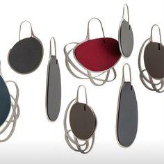 Iris Saar Isaacs Pebble Earrings...(@papermetal)