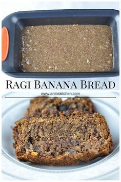 Eggless Ragi Banana Walnut Bread. #antoskitchen #eggless #ragi #banana #walnut #bread