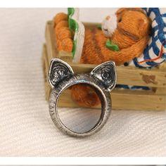 cat ring| $1.21  kawaii pastel gyaru otome kei larme kei fachin ring jewelry accessories cat under10 under20 under30 free shipping rosegal