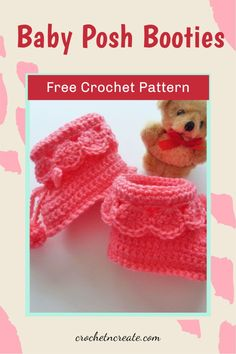 Free baby crochet Booties pattern on crochetncreate, crochet for baby showers and gifts. #freebabycrochetpattern #freebabycrochetbooties.