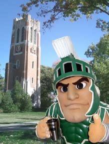 Michigan State University, E. Lansing, Michigan...GO GREEN!!