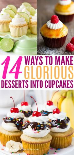 14 Amazing Cupcakes That Taste Like Your Favorite Desserts 14 Amazing Cupcakes That Taste Like Your Favorite Desserts Joyce Wilkinson joycewilkinson Cake 14 Ways to Make Glorious Desserts Into nbsp hellip Cupcake flavors Fun Cupcakes, Cupcake Cookies, Amazing Cupcakes, Summer Cupcakes, Cupcake Recipes, Baking Recipes, Dessert Recipes, Dessert Ideas, Pavlova