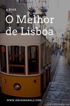 O Melhor de Lisboa: uma das capitais europeias mais baratas e divertidas, repleta de lugares maravilhosos, comida boa e muito o que ver e fazer. Nesse post reunimos o melhor de Lisboa em 3 dias, um guia passo-a-passo para você aproveitar cada momento da sua estada. Sintra Portugal, Eurotrip, Places To Travel, Places To Go, Holiday Places, Portugal Travel, Travel List, Algarve, Travel Around The World