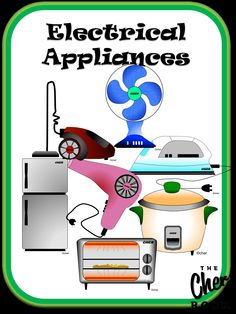Science Cliparts: Electrical Appliances  Get it from The Cher Room @ Teachers Pay Teachers!