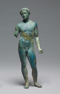 Athlete or Apollo, ca cent. Bronze statuette with silver inlays. The Cleveland Museum of Art. Ancient Greek Sculpture, Ancient Greek Art, Ancient Rome, Ancient Greece, Roman Sculpture, Bronze Sculpture, Sculpture Art, Ancient Greek Architecture, Gothic Architecture