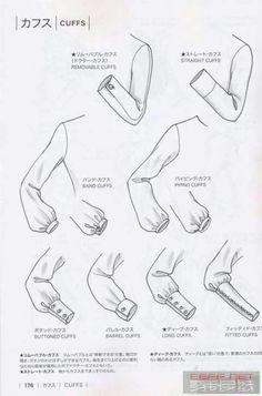 Guide to Fashion Design by Bunka Fashion College (Japan): Cuffs