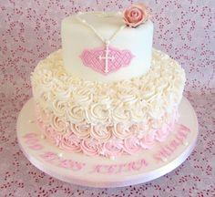 tortas de bautizo para niña pequeña