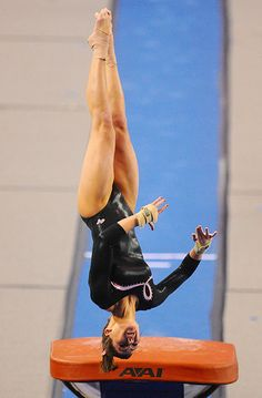 Utah's Kristina Baskett scored a team high of 9.850 on vault in the Ute's loss to the Georgia Gym Dogs Monday, Jan. 19, 2009, at Stegeman Coliseum in Athens, GA.  college women's artistic gymnastics, WAG, collegiate gymnast p.1.2 #KyFun