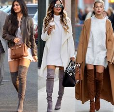 Ootd Fashion, Fashion Boots, Womens Fashion, Tight High Boots, Thigh High Boots Outfit, Knee Boots, Cool Outfits, Casual Outfits, Teacher Outfits