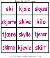 FredagsKilden: NORSK - Undervisningsmateriell 1-17 Bingo, Grammar, Crafts For Kids, Barn, Language, Education, Montessori, First Class, Kids Arts And Crafts