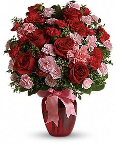 Order Dance with Me Bouquet with Red Roses - dance with me from Locker's Flowers, Greenhouse & Gifts, your local McHenry florist. For fresh and fast flower delivery throughout McHenry, IL area. Beautiful Flower Arrangements, Pretty Flowers, Floral Arrangements, Send Flowers, Cheap Flowers, Fresh Flowers, Ikebana, Flowers For Valentines Day, Valentine Bouquet