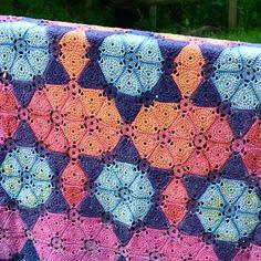 Supernova crochet blanket by amanda perkins