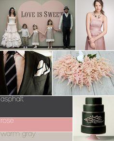 Wedding colour scheme option 5: Asphalt, Rose, Warm Gray