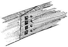 A Scarf joint roved through from either side.