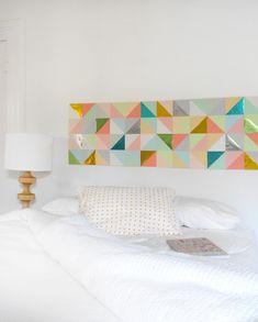 ideas para decorar las paredes panel triangulos general