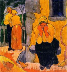 Paul Ranson - Woman Crying, c. 1891. Oil on canvas, 22 cm (8.66 in.) x 19 cm (7.48 in.). Private Collection